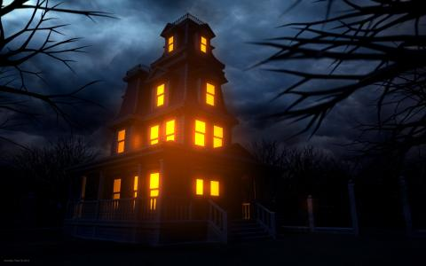 万圣节闹鬼的房子