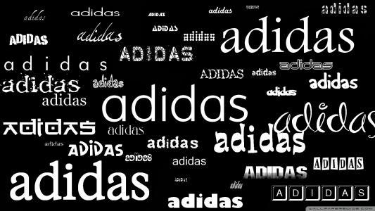 题字阿迪达斯在不同的语言
