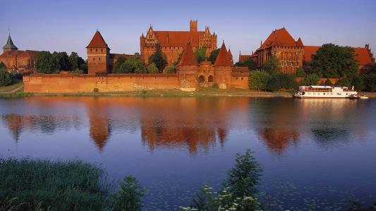 在波兰的马尔堡城堡