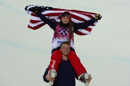 美国自由职业者马迪鲍曼在索契奥运会上