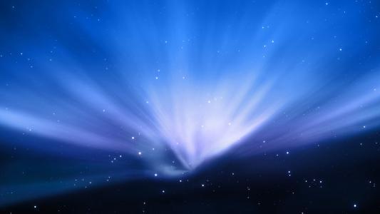 太空中的能量的光芒