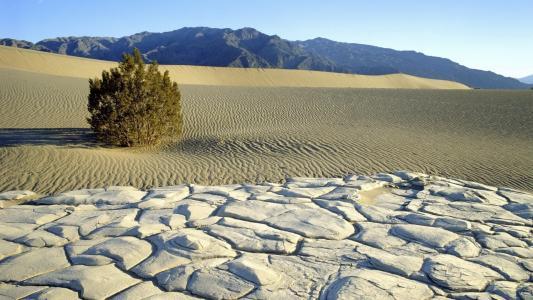 沙漠景观与山