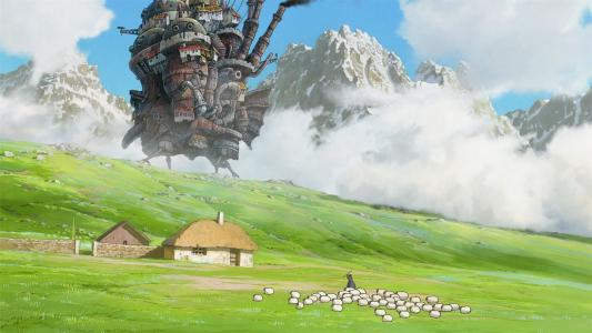 动漫的山村步行城堡