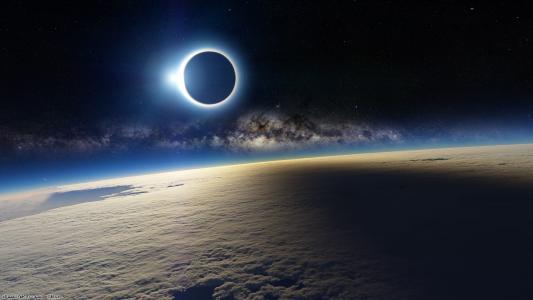 天空,太阳,月亮,日食