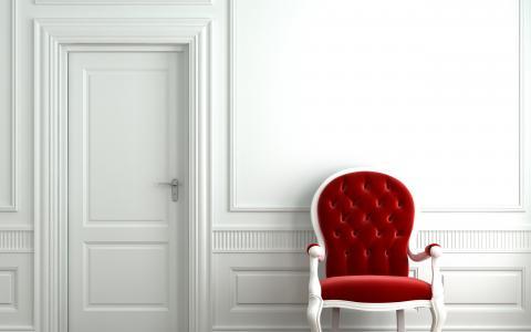 红色的椅子