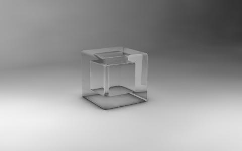 透明立方体3D