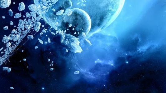 太空中的冰块