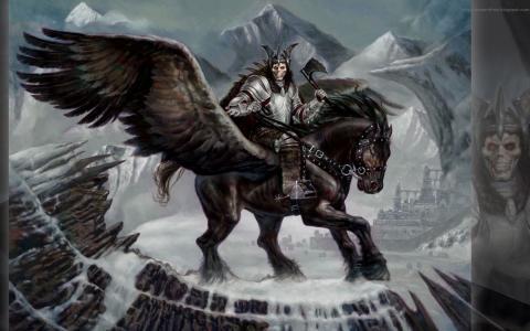 在一匹飞过的马的战士