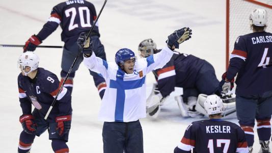 芬兰国家曲棍球队在奥运会在索契