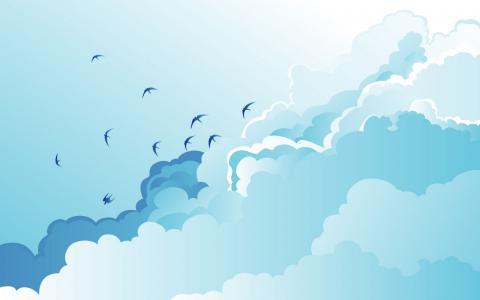 海鸥在云端
