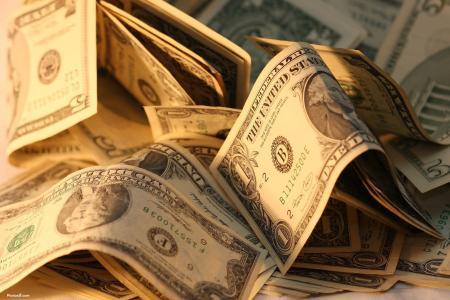美元在阳光下