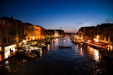 在意大利威尼斯的浪漫漫步