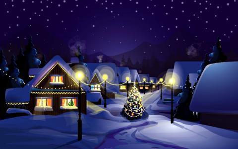 圣诞节在村里