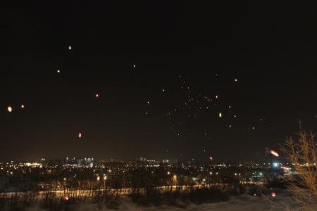 冬天的夜晚在哈尔科夫