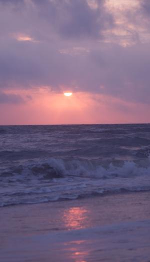 日落海滩美景