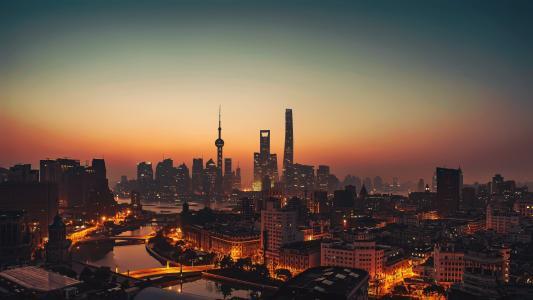 魔都上海迷人夜景风光