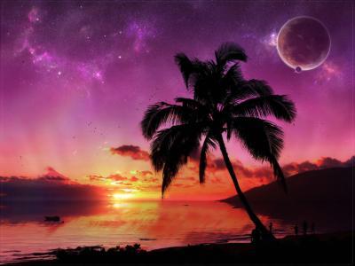 南海上的神奇天空