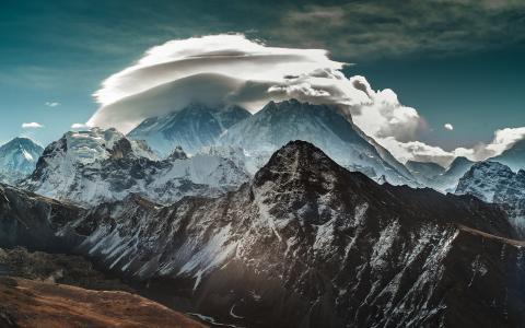 雪,景观,喜马拉雅山的山脉
