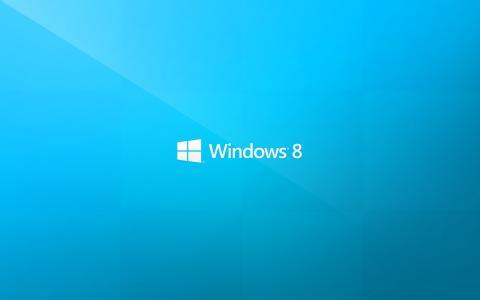 蓝色背景,Windows8