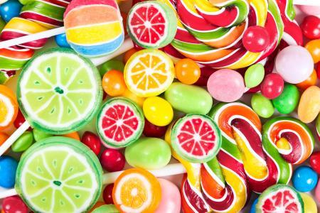 不同颜色的棒棒糖