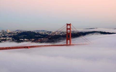 雾中的加州大桥
