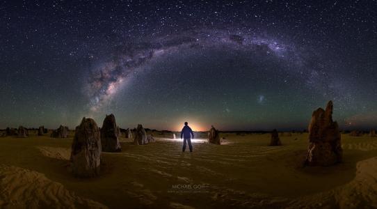 一个人看着银河系