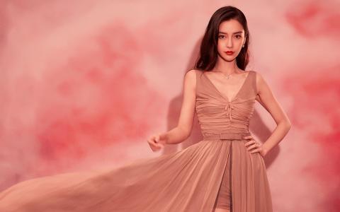 angelababy优雅长裙气质性感写真