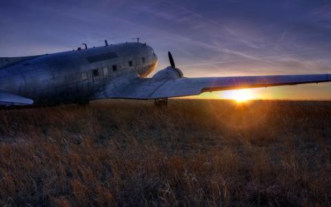 在领域的飞机