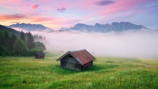 在德国的高山谷