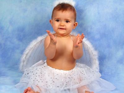 甜美的天使女孩