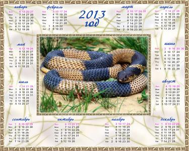 2013年的日历