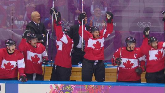 加拿大国家曲棍球队在索契奥运会上获得金牌