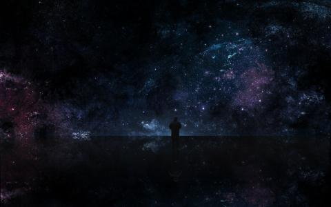 人对宇宙开放