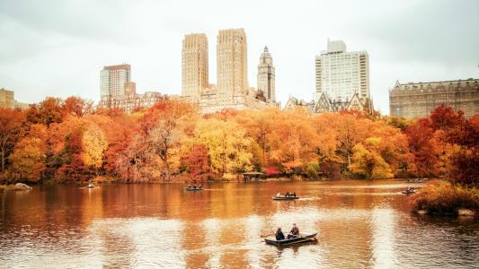 秋天中央公园,纽约