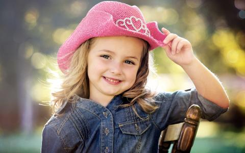 女孩,幸福,微笑