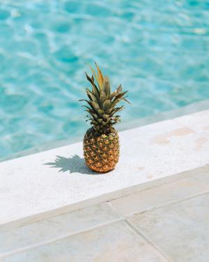 小清新菠萝微信背景