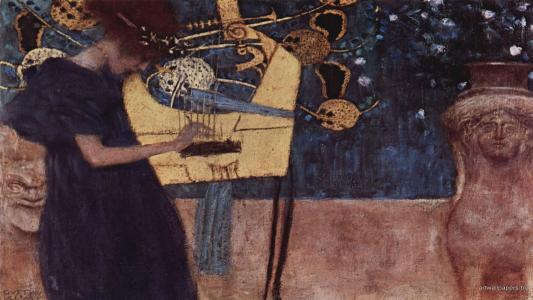 音乐的Gustav Klimt的图片