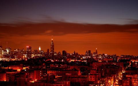 夜晚的灯光