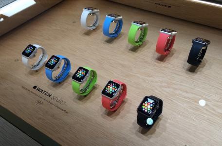与苹果手表展示