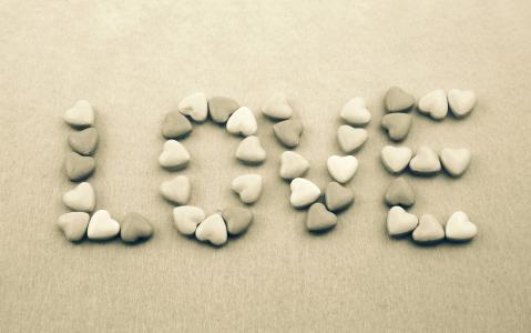 以心的形式爱上石头