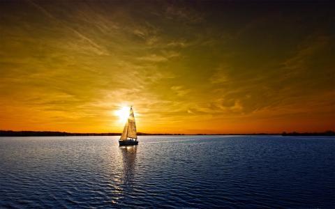 孤独的游艇