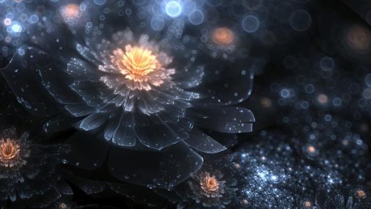 发光的透明花朵