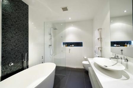 雪白的浴室设计