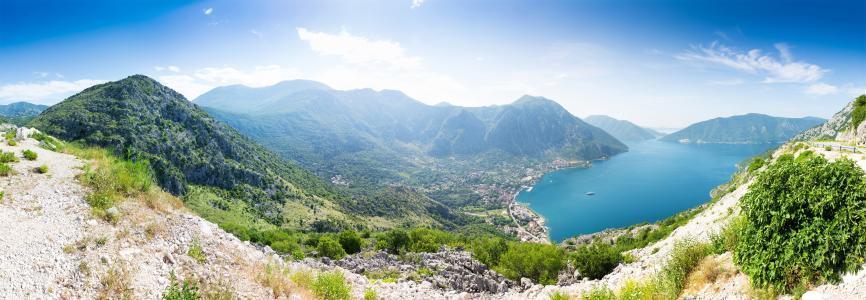 黑山博卡科托尔全景