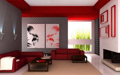 矩形的房间风格