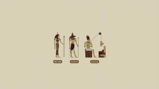 埃及俄罗斯方块,灰色的背景