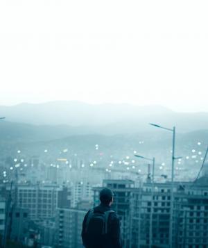 情人节孤单一个人背影