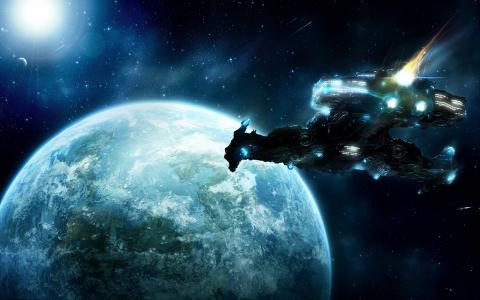 这个星球附近的太空船