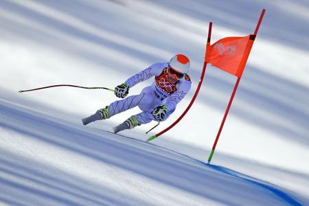 美国滑雪者博德·米勒(Bode Miller)持有铜牌