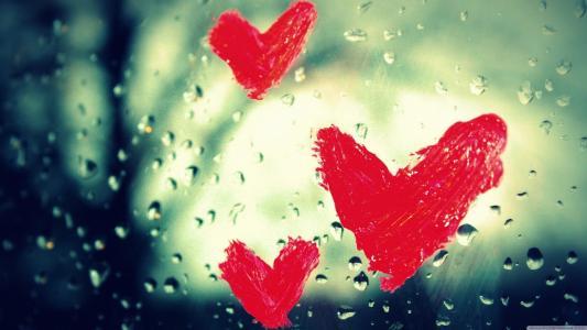 2月14日情人节的三颗红心